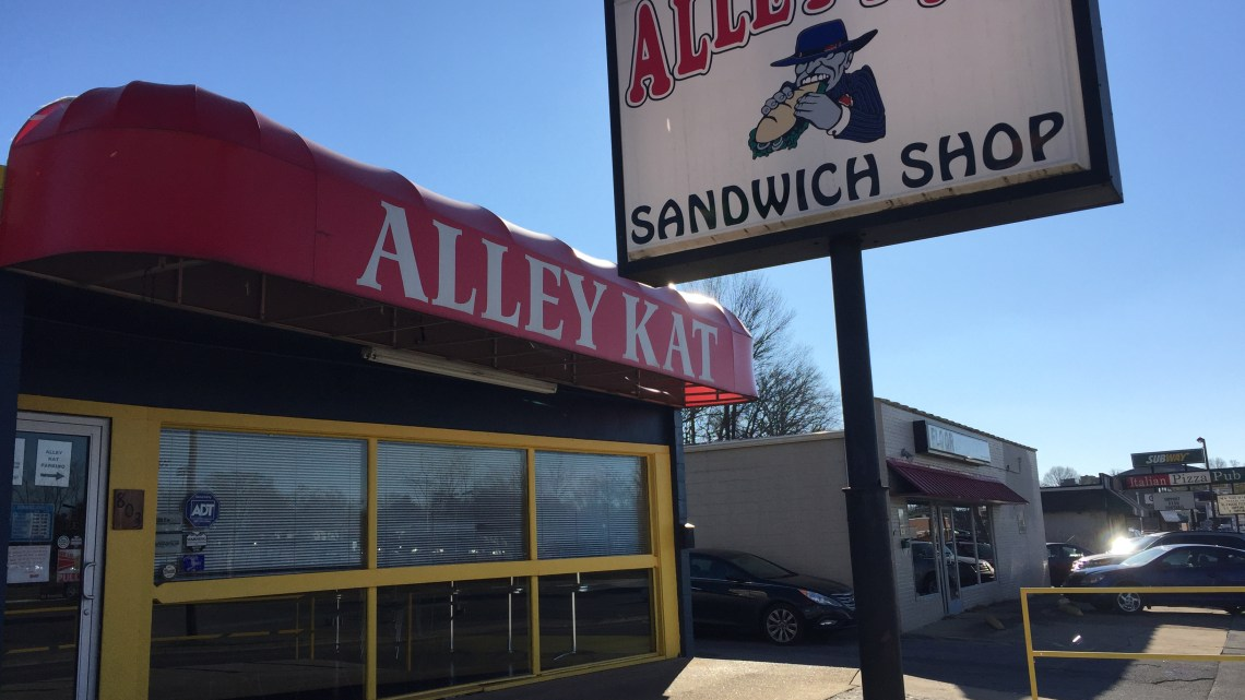 Alley Kat's doors closed permanently on Jan. 16. The sandwich shop was located at 803 W. Walnut St. in Johnson City. (Photograph by Emma Hammer)