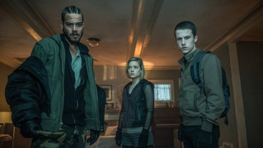 "Daniel Zovatto, Jane Levy and Dylan Minnette star in ""Don't Breathe."" (Contributed)"