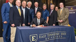 Gov. Bill Haslam signed the FOCUS Act into law at ETSU's Reece Museum on June 13. (Photo Courtesy of etsu.edu)
