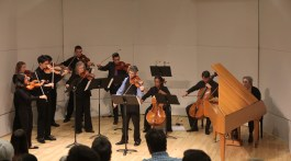 George Figueroa (Front Violin) leads the Paramount Chamber Players in their performance at E.T.S.U. in their performance of The Four Seasons of AntonioVivaldi. (Photograph by Rick Harris/East Tennessean)