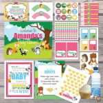 Printable Forest Creatures baby shower party package