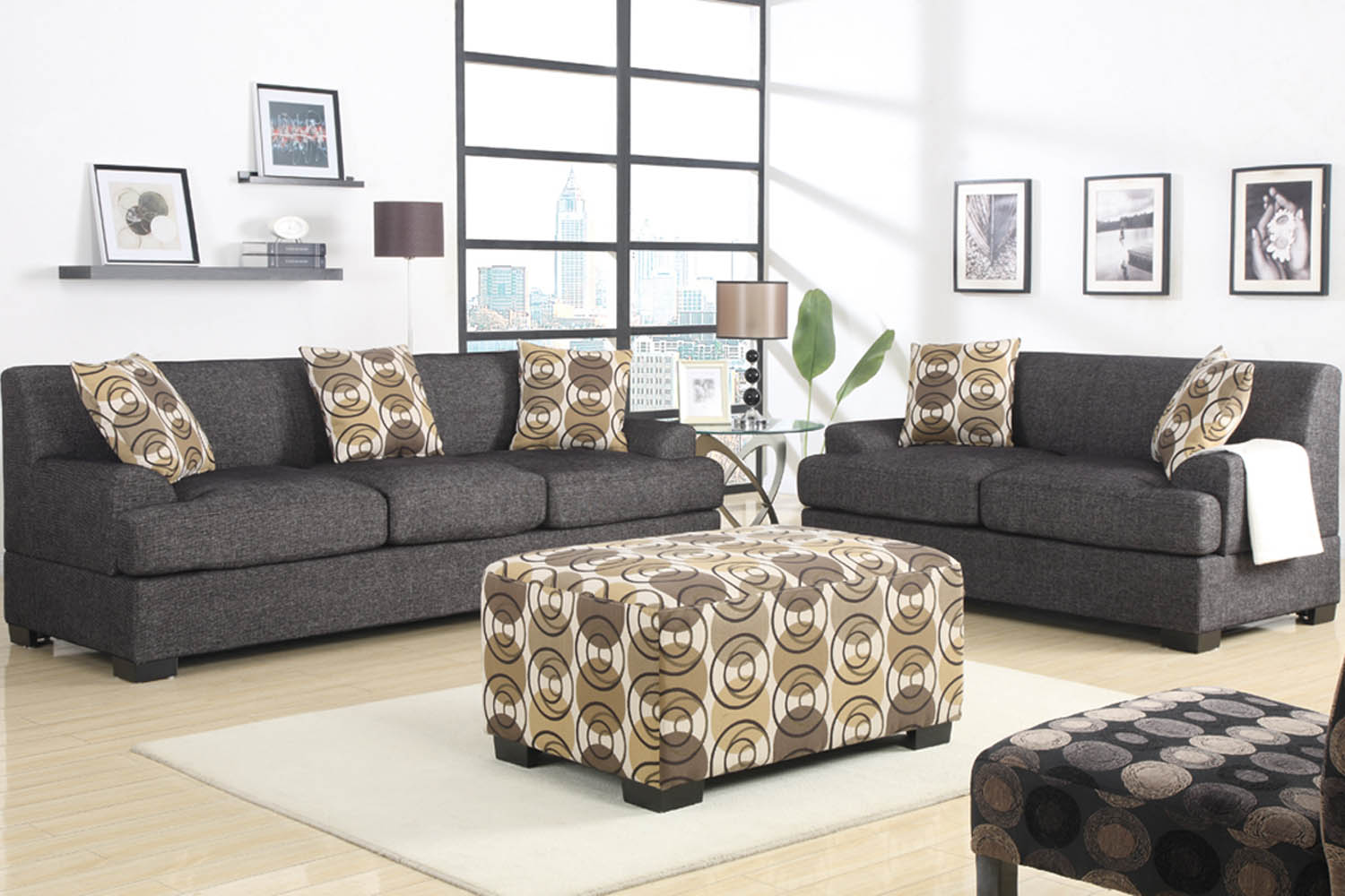 Sofa Set Grau 2 Piece Grey Sofa Set