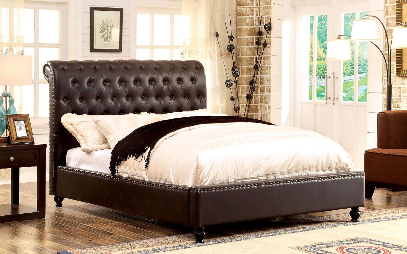 Tufted Queen Bed White Button Tufted Queen Bed
