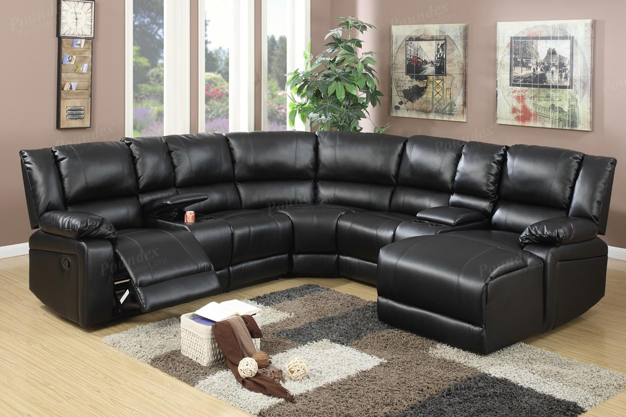 Sofa Set On Sale Brown Or Black Leather Reclining Sectional