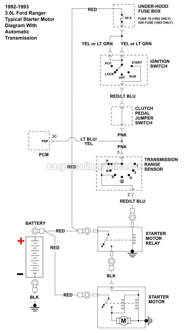 fiat punto starter motor diagram