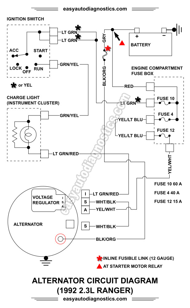 Part 1 -1992-1994 23L Ford Ranger Alternator Wiring Diagram