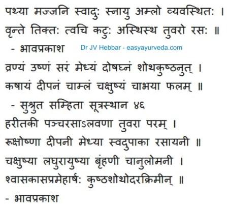 Qualities of Haritaki fruit