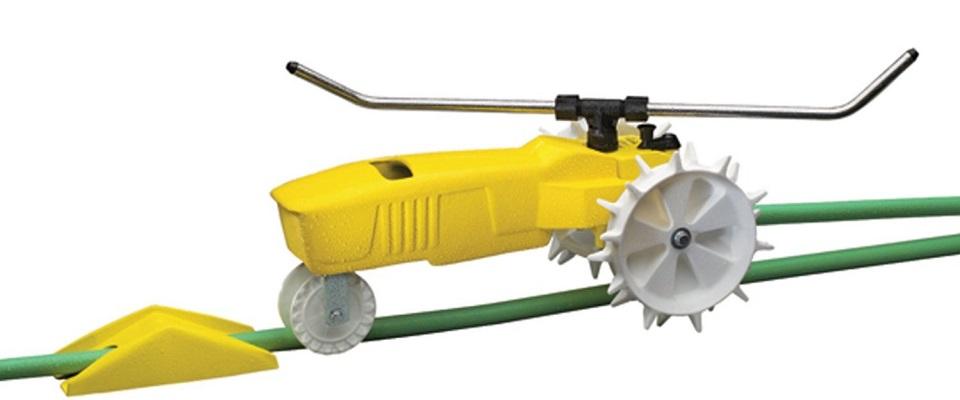 Raintrain Traveling Sprinkler – Easy Lawn & Garden Watering