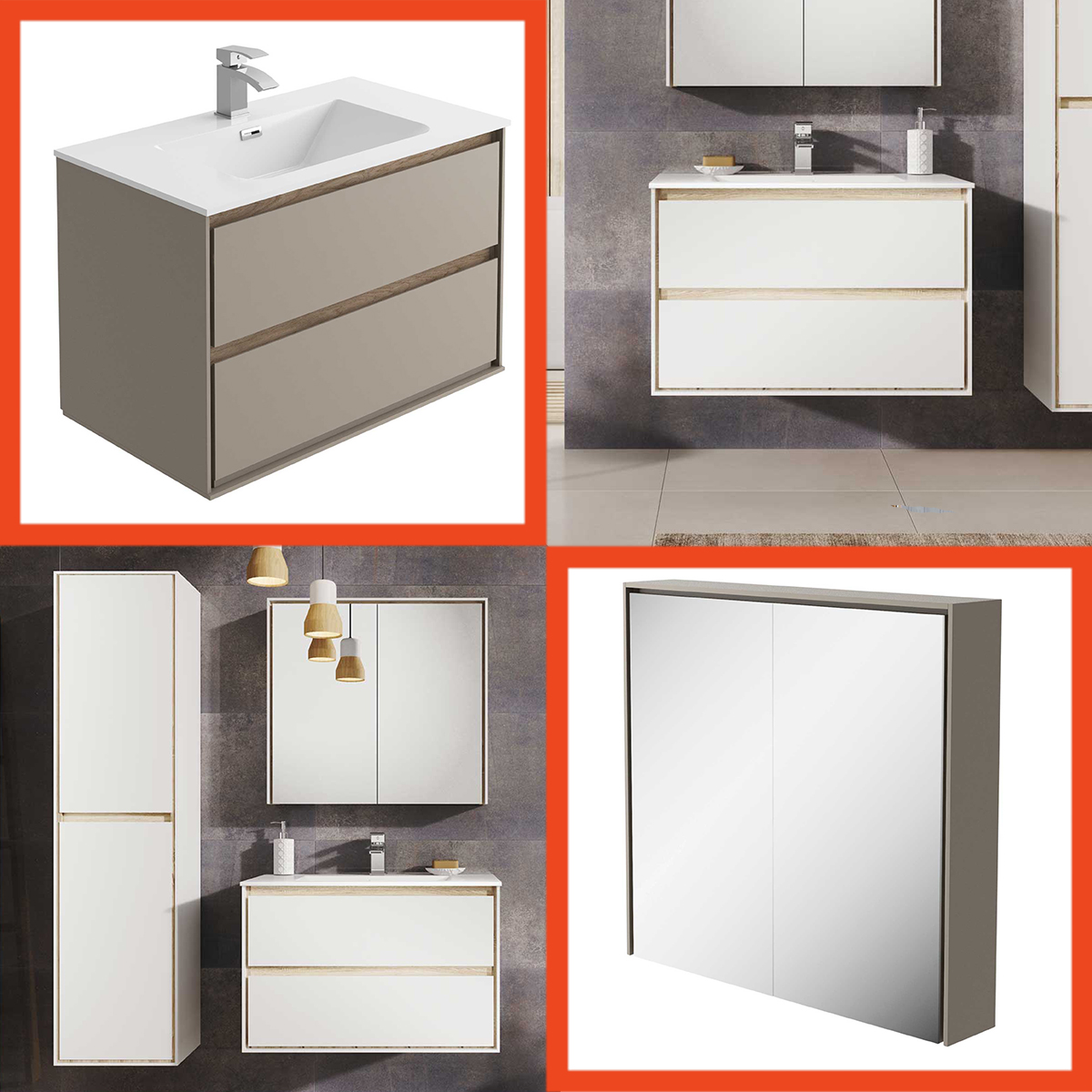 Luxury Bathroom Vanity Units Designer Bathroom Vanity Unit Wall Hung Resin Basin White