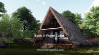 Basic A-Frame Cabin | easybuildingplans