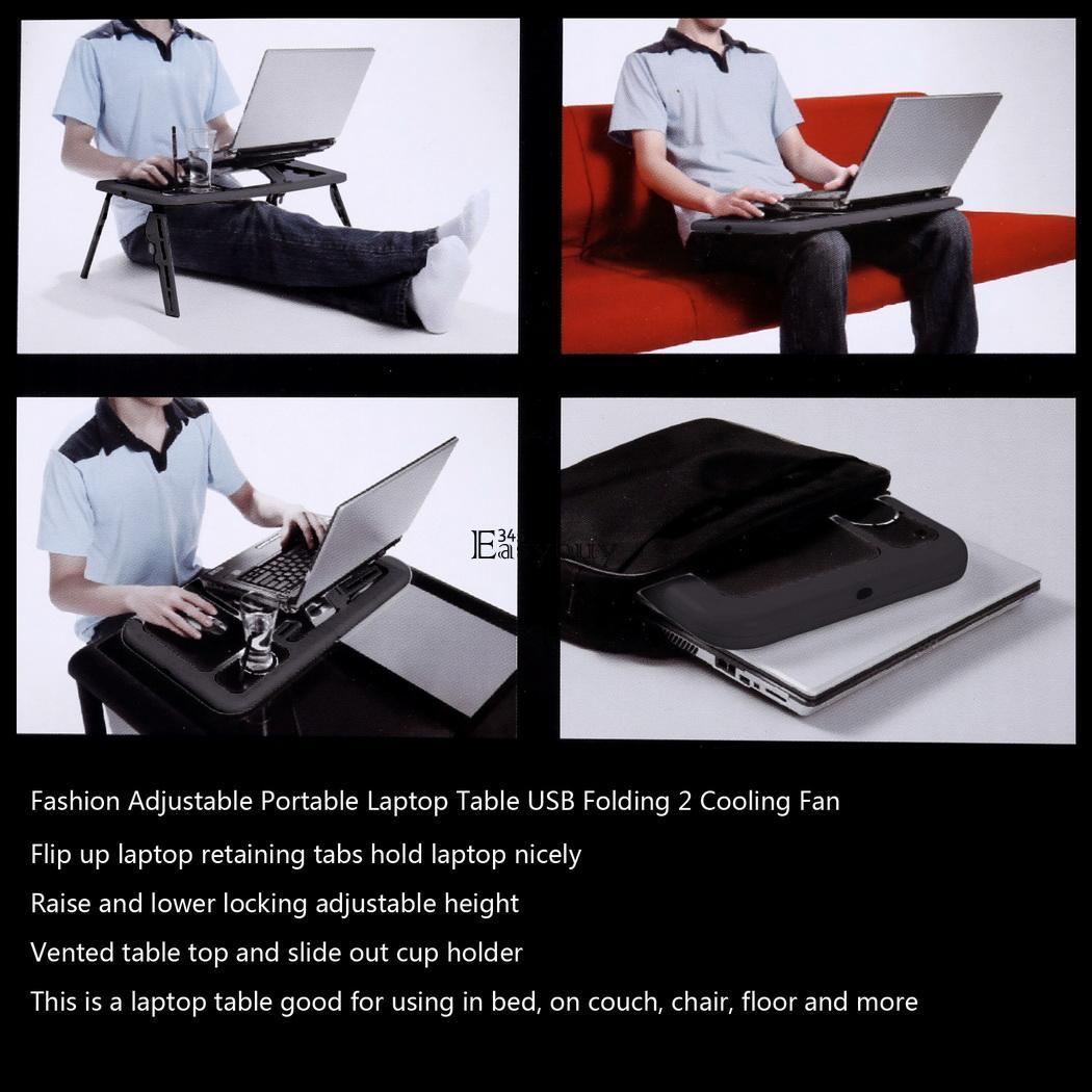 Laptop Holder For Bed Laptop Lap Desk Computer Table Stand Tray Portable