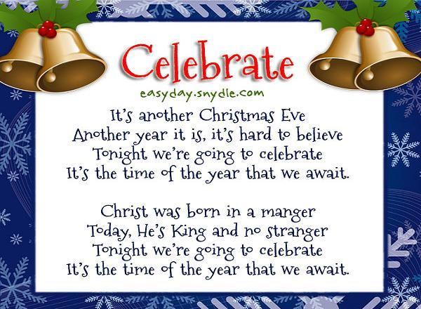 Christmas Greetings Poem Easyday