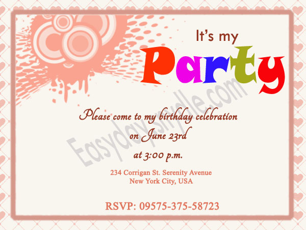 Birthday Invitation Wording - Easyday - birthday invitations sample