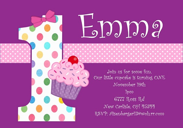 First Birthday Invitation Wording and 1st Birthday Invitations - format for birthday invitation