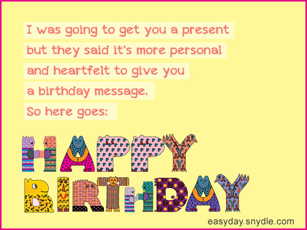 Birthday Wishes Messages and Greetings - Easyday