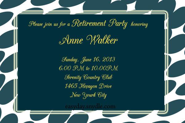 Sample Retirement Invitation \u2013 orderecigsjuiceinfo - sample party invites