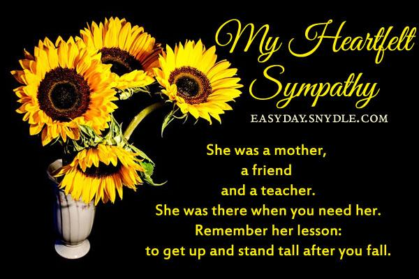 Sympathy messages for loss of mother easyday