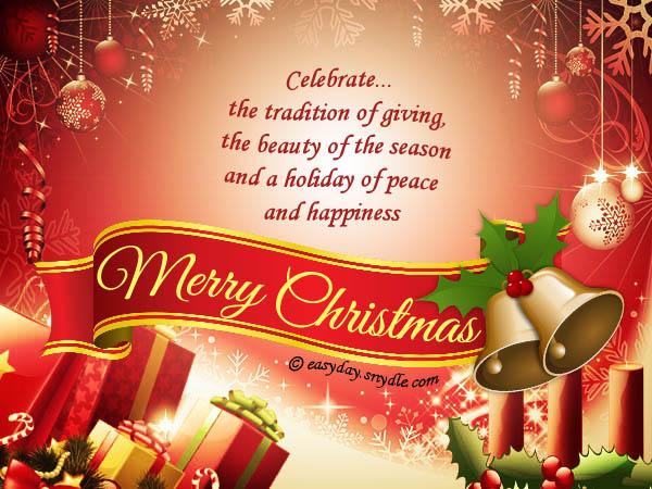 Free Merry Christmas Cards and Printable Christmas Cards - Easyday