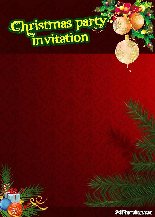 Christmas Party Invitation Template \u2013 gangcraftnet