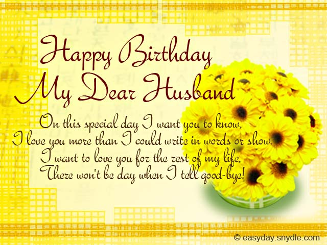 Birthday Messages for Your Husband - Easyday - sample happy birthday email