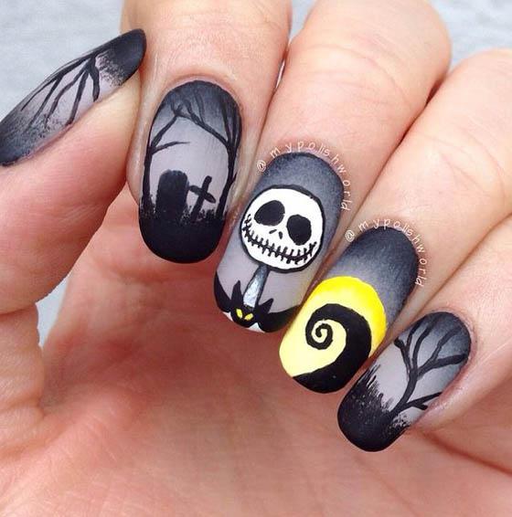 36 Spooktacular Halloween Nail Art Designs