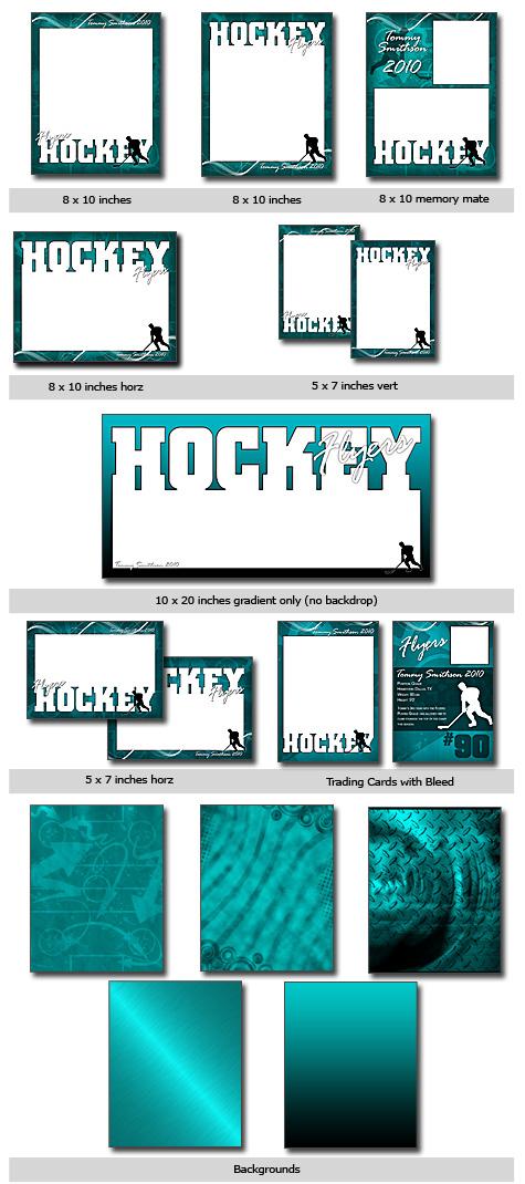 Sports Hockey Cutouts Vol 11 Photoshop  Elements Templates