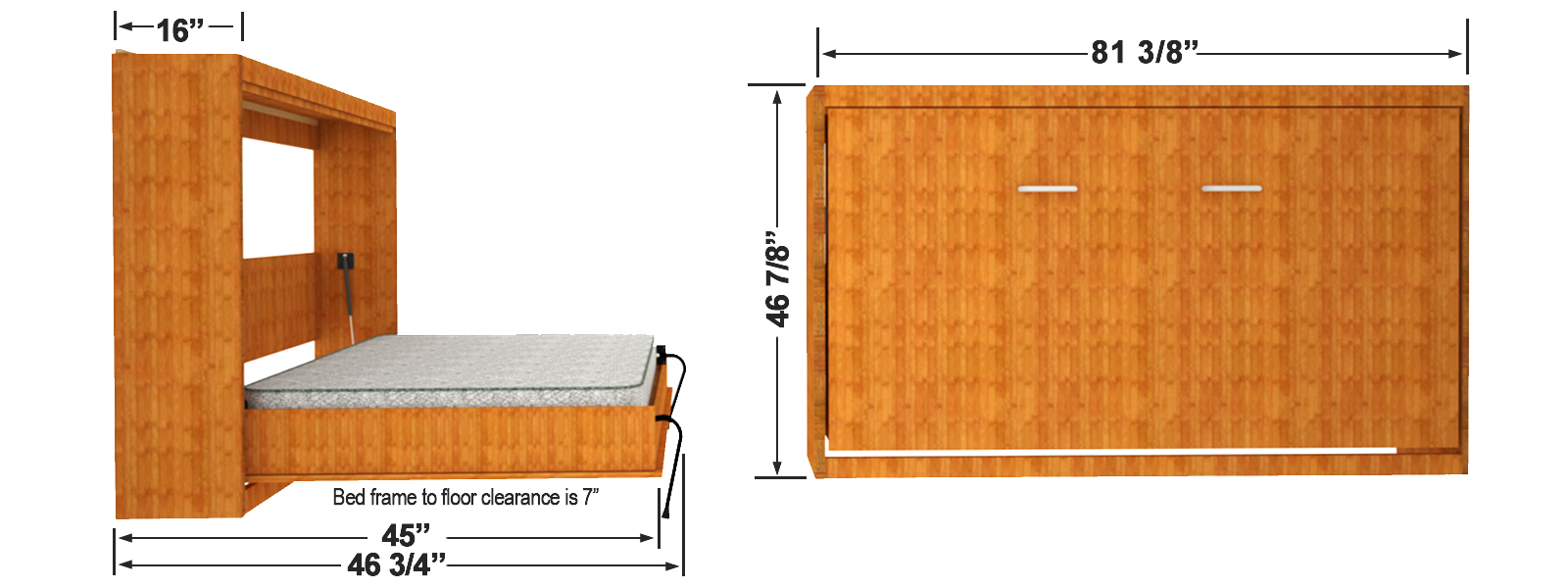 Standard Queen Size Bed Dimension Horizontal Easy Diy Murphy Dimensions Easy Diy Murphy Bed