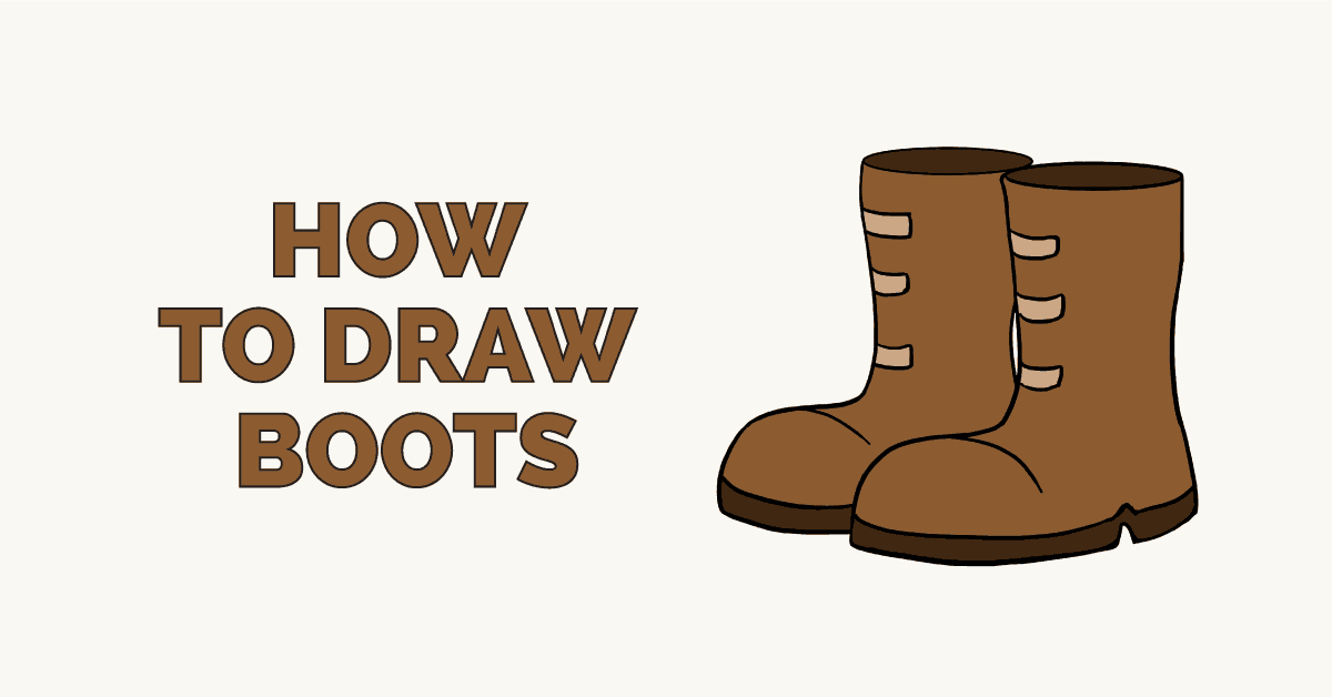 How To Draw Boots Really Easy Drawing Tutorial