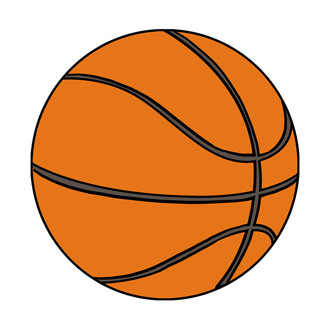 drawings of basketballs