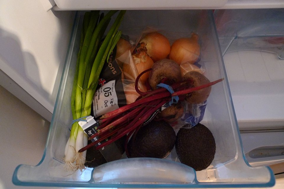 Veg drawers. My fridge has three.