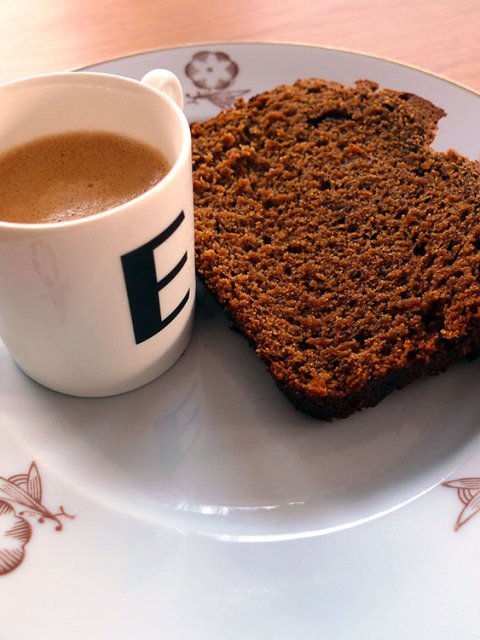 Moist and full of spice - ginger cake. Perfect with tea, perfect with coffee.