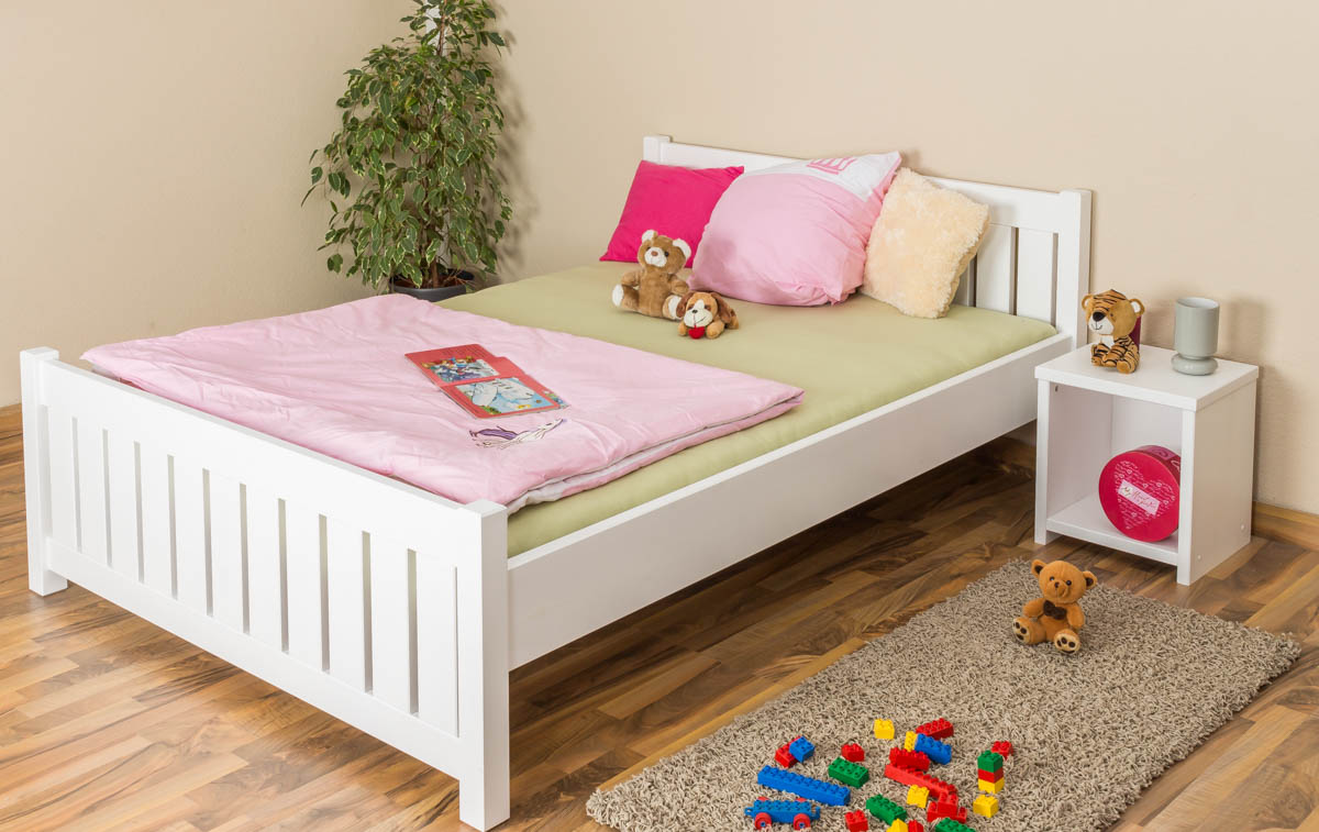 Kinderbett 90x160 Children S Bed Youth Bed Solid Natural Pine Wood 65 Includes Slatted Frame Dimensions 140 X 200 Cm