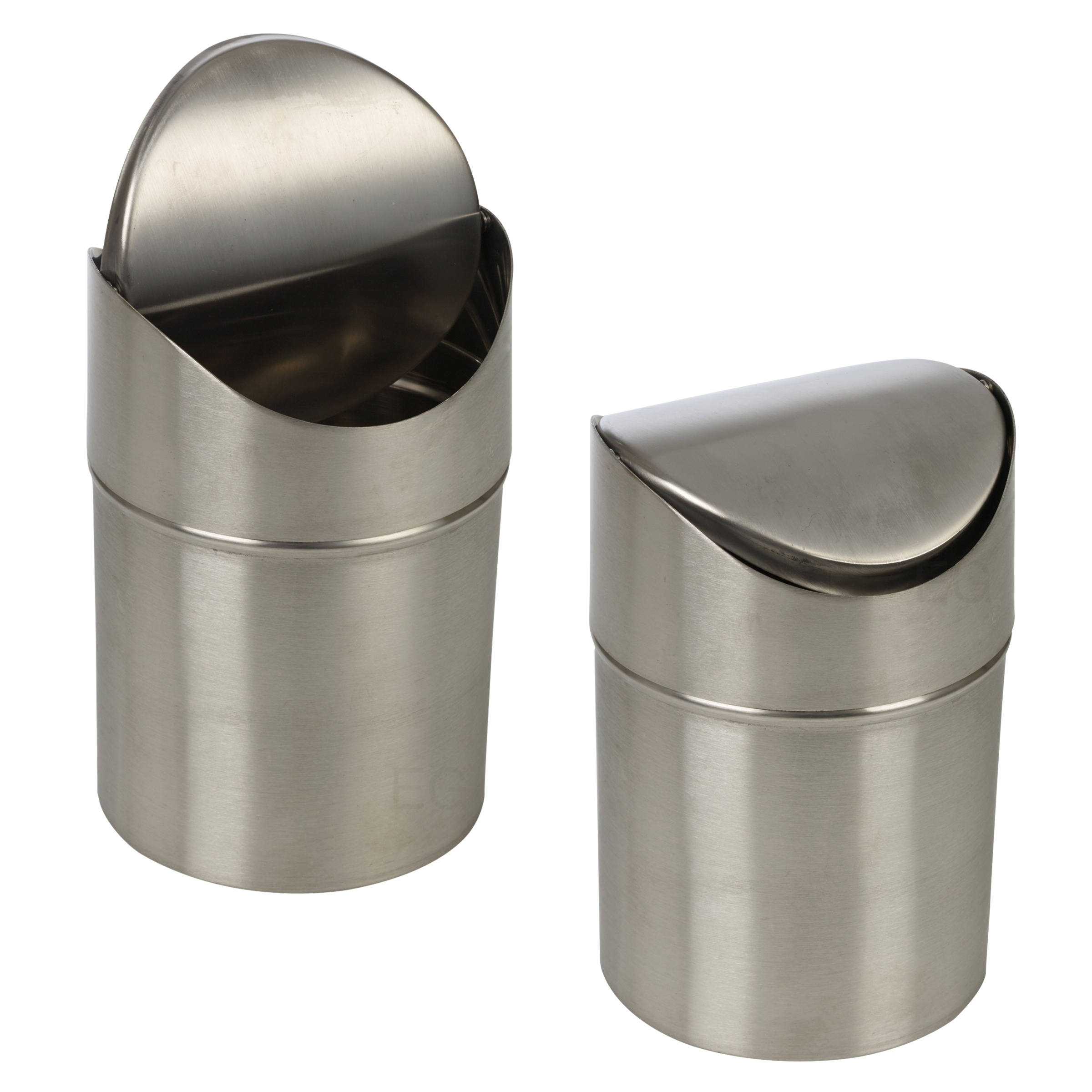 Small Metal Trash Cans With Lids Stainless Steel 1 5l Small Recycling Bin Swing Lid Kitchen