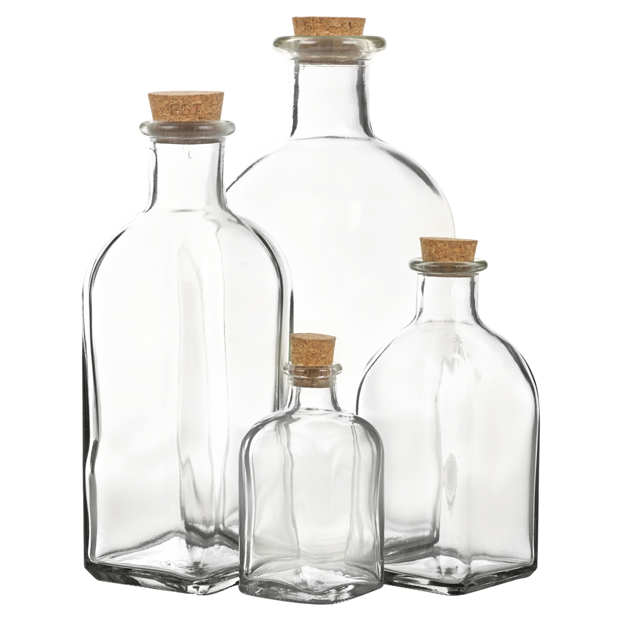 Cork Jar 3 6 9 12 Glass Bottle Jars Vials Cork Lid Stopper Kitchen
