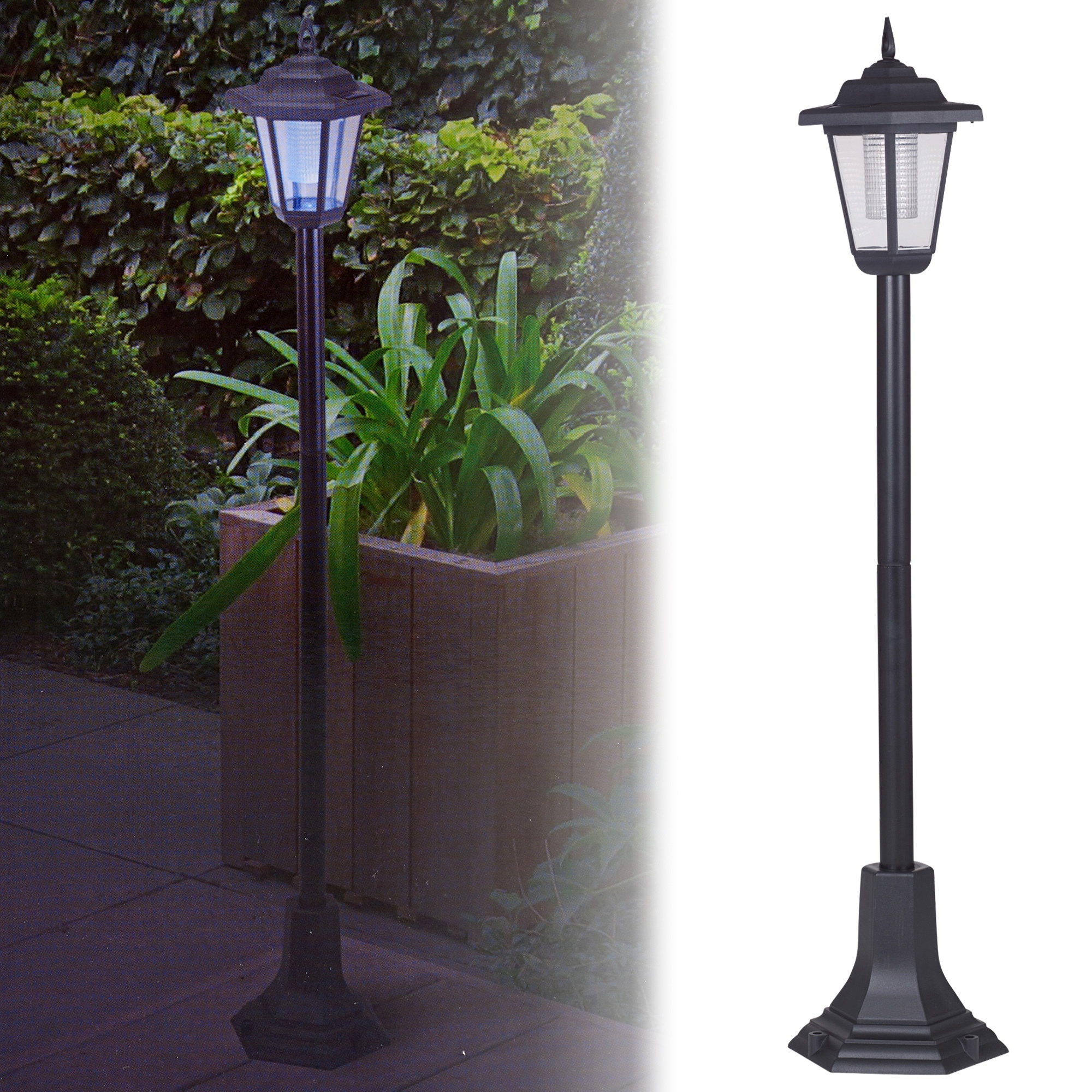 Solar Lights Outdoor Solar Powered Garden Lights Lantern Lamp Black Led Pathway