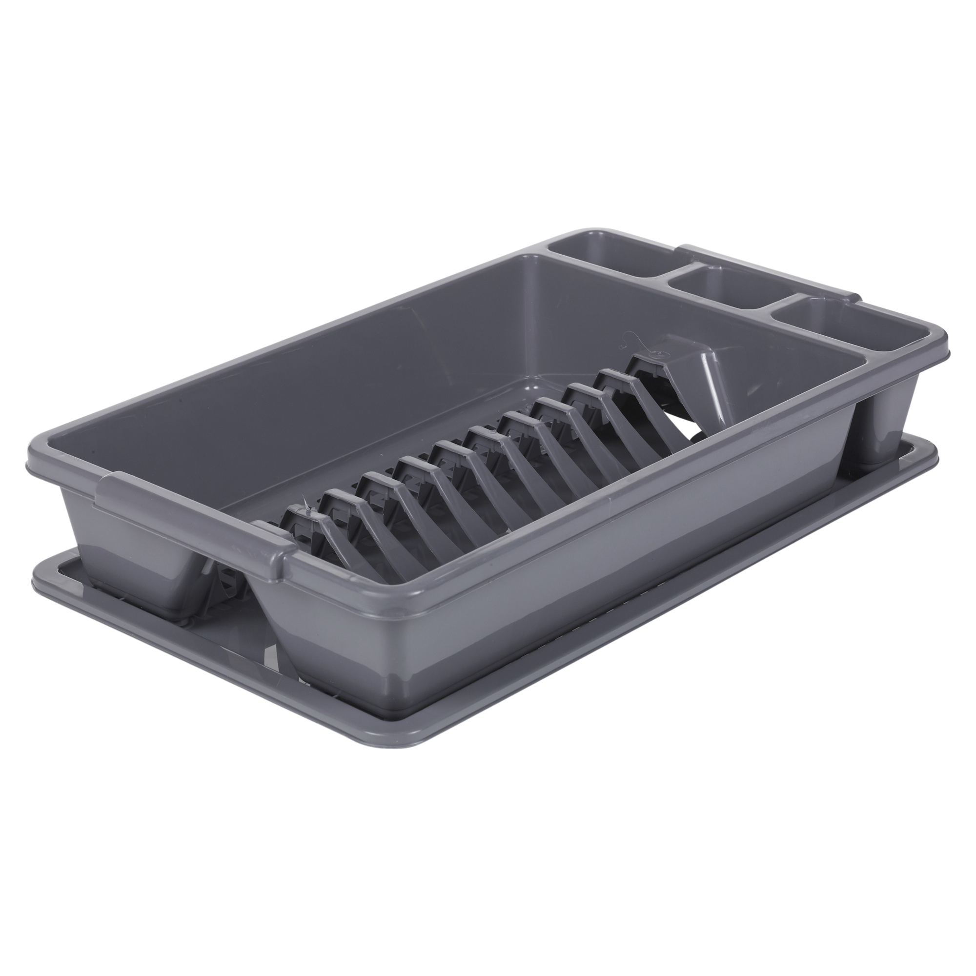 Draining Rack Plastic Dish Drainer Plate Cutlery Rack Kitchen Sink