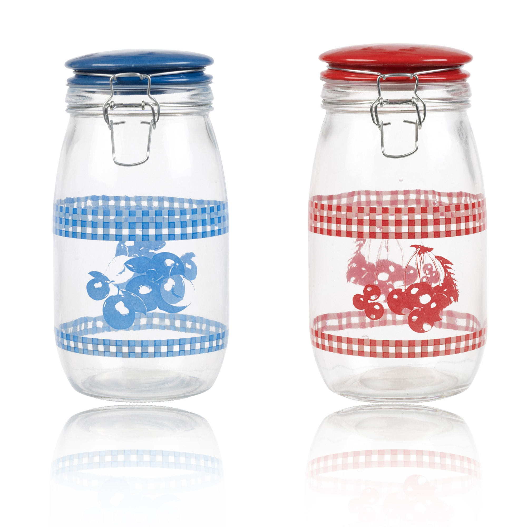 Ceramic Jars With Lids Large Glass Storage Jar With Ceramic Lid Air Tight Seal