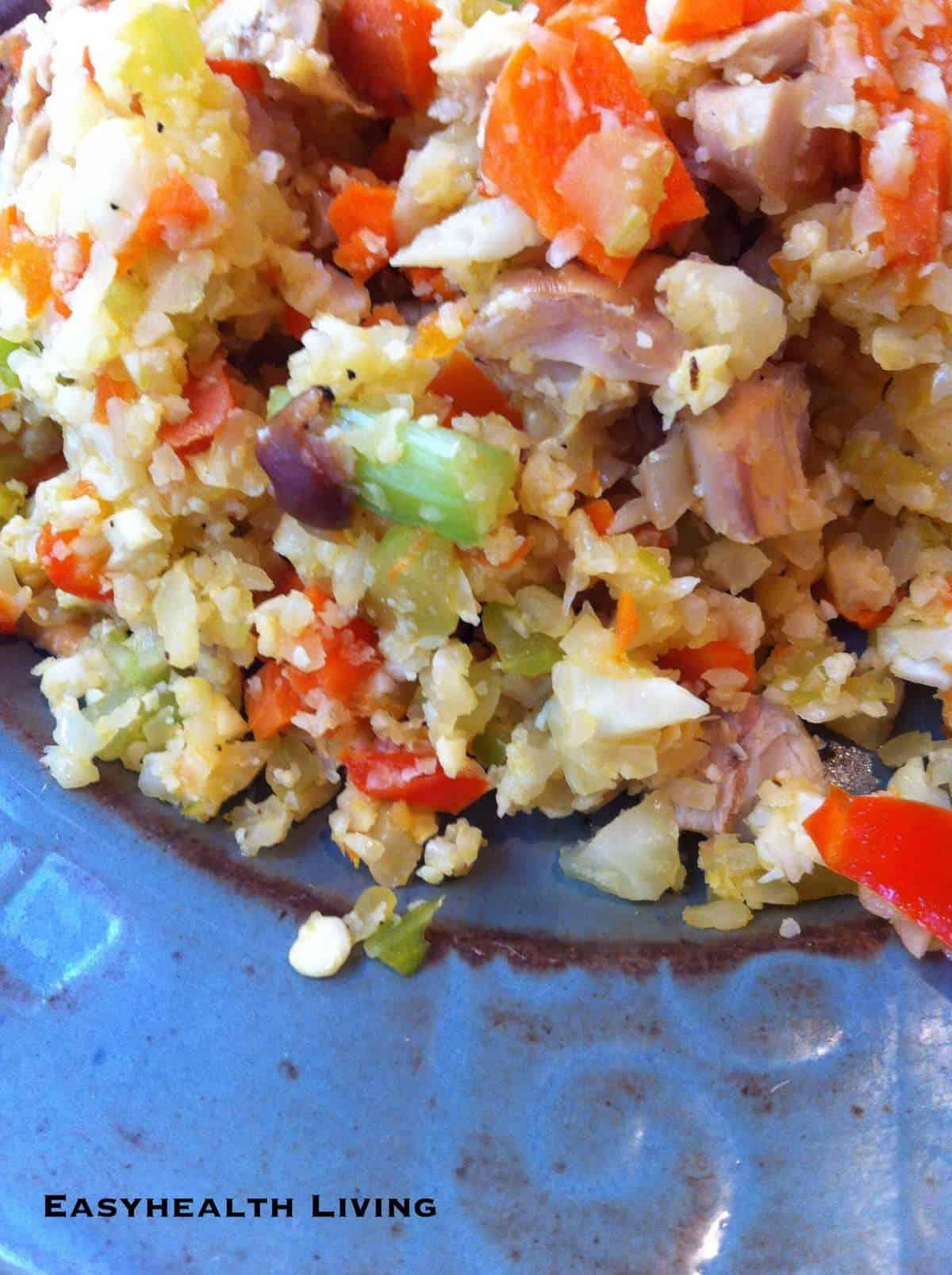 "Low Carb Stir Fried Cauliflower ""Rice"" with Turkey | EasyHealth Living"