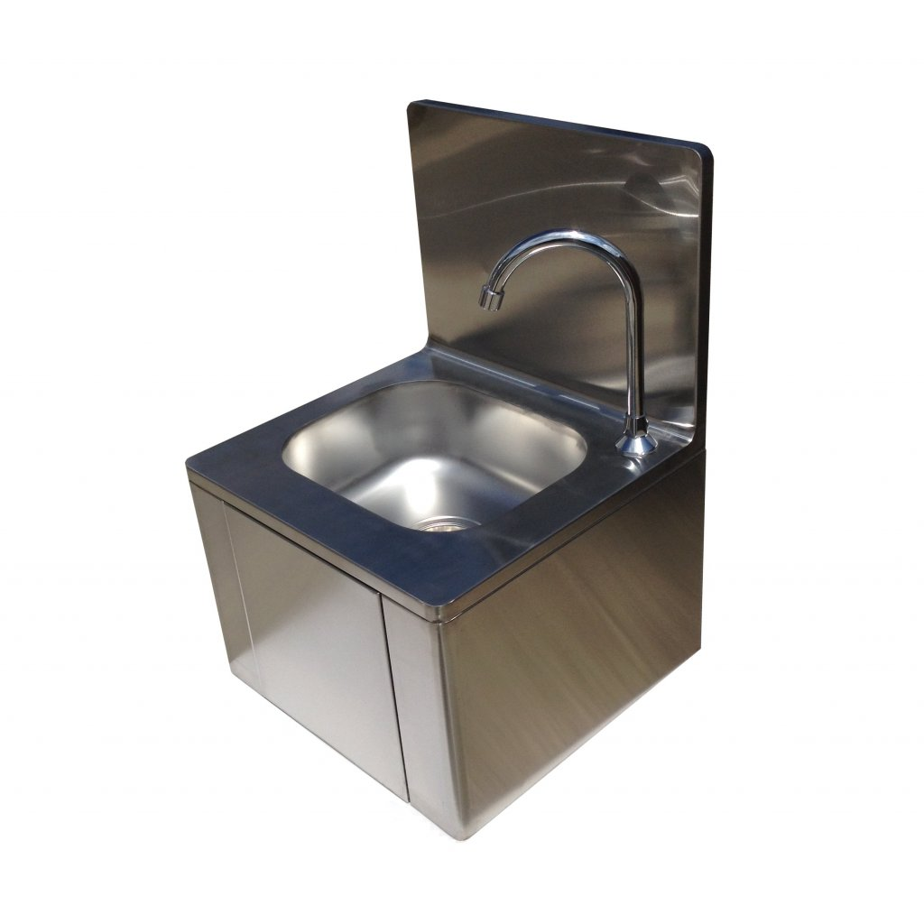 Washbasin Sink Stainless Steel Knee Operated Hand Wash Basin Sink Easy