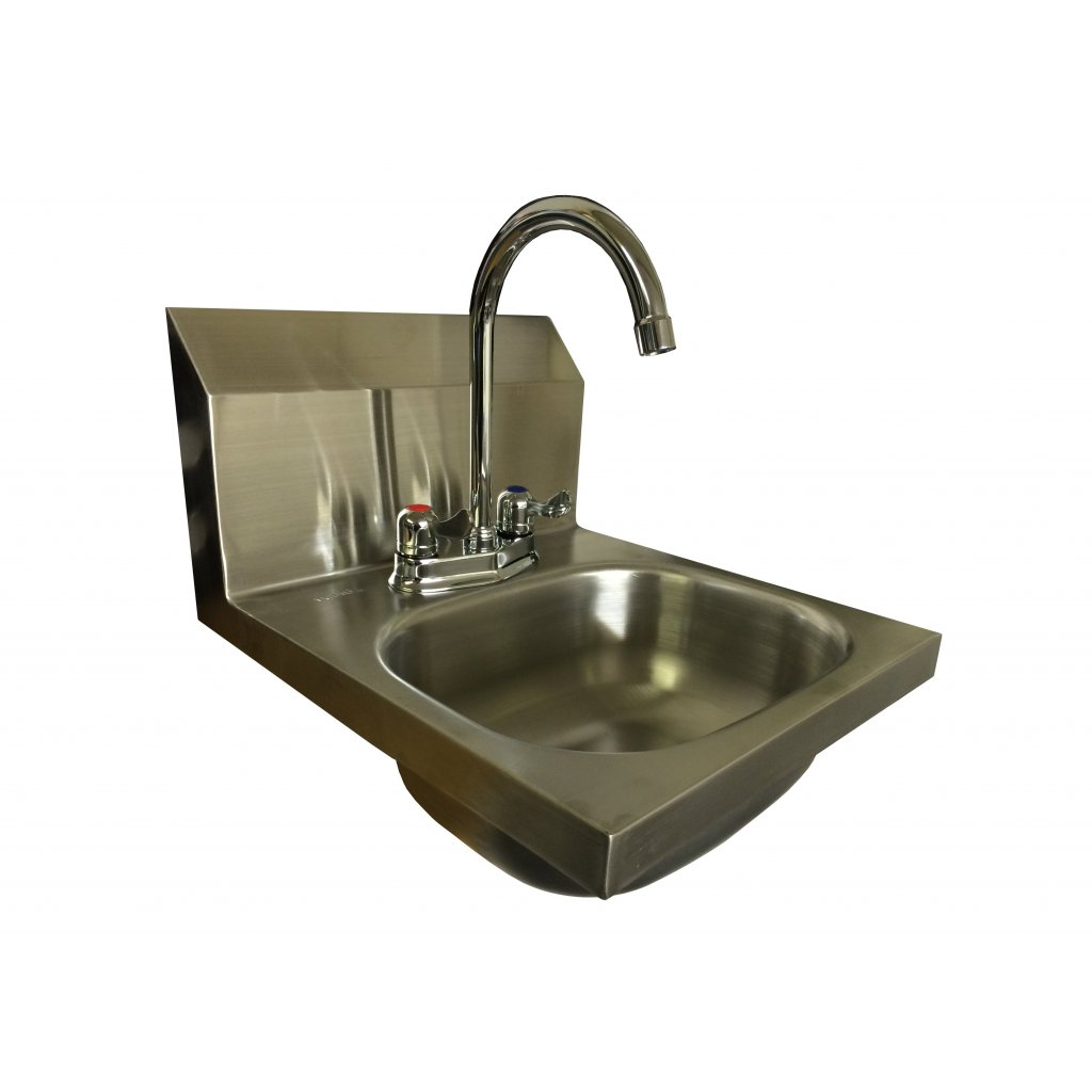 Washbasin Sink L Shaped S12 Wall Hung Stainless Steel Hand Wash Basin