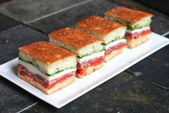 Italian Pressed Sandwiches recipe photo