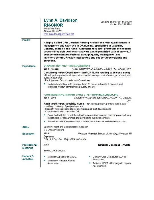 Cincinnati Nursing Resume / Sales / Nursing - Lewesmr