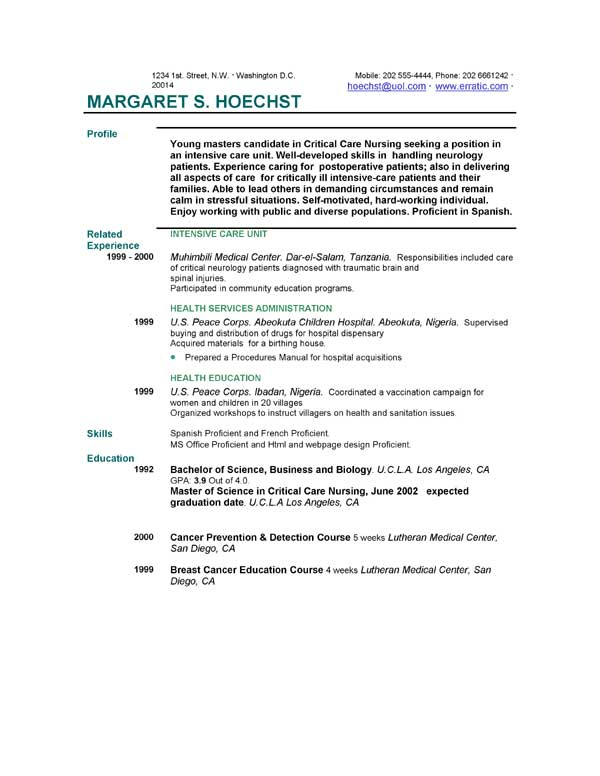 Resume Examples EasyJob