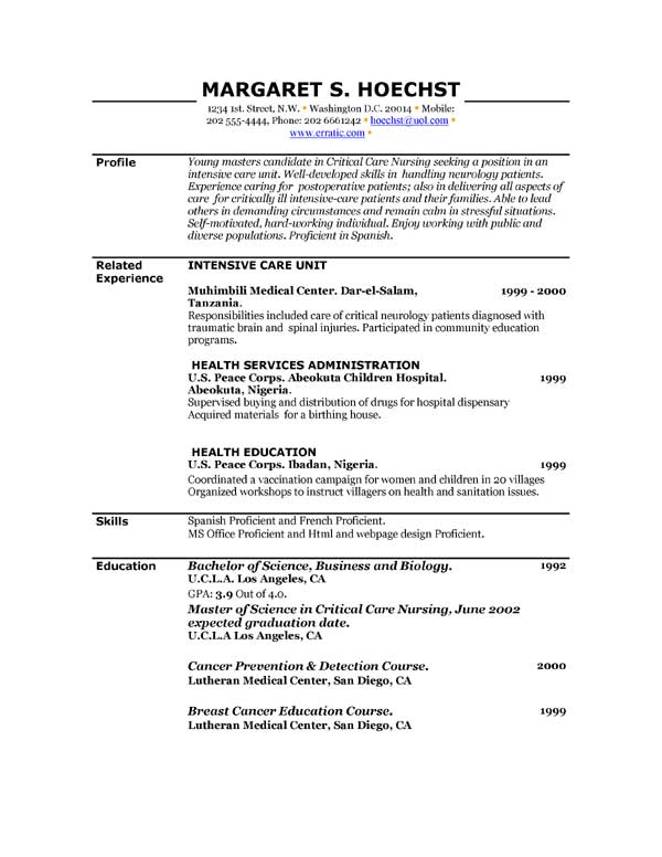 Resume Builder For Free To Print | Free Resume And Customer
