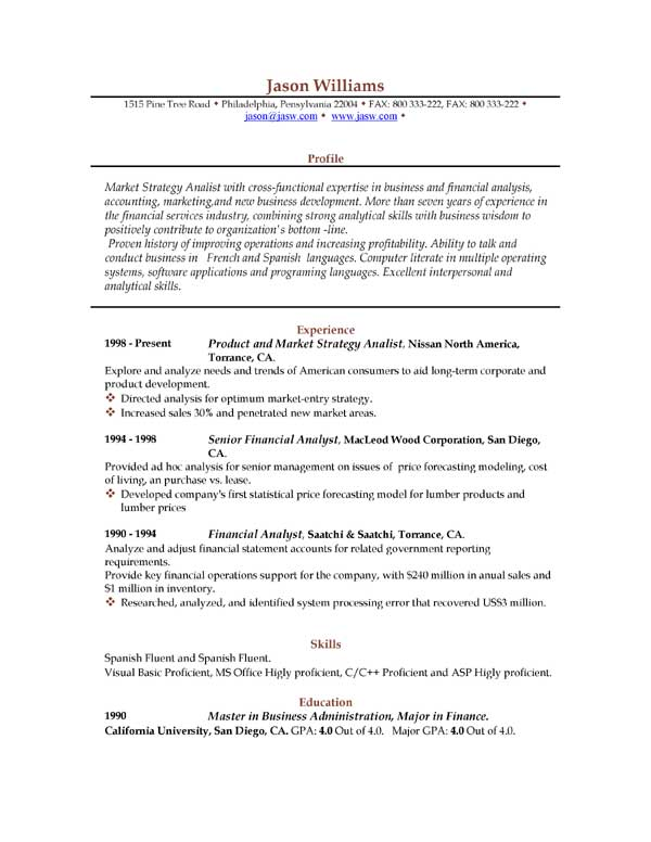Resume Demo | Resume Format Download Pdf