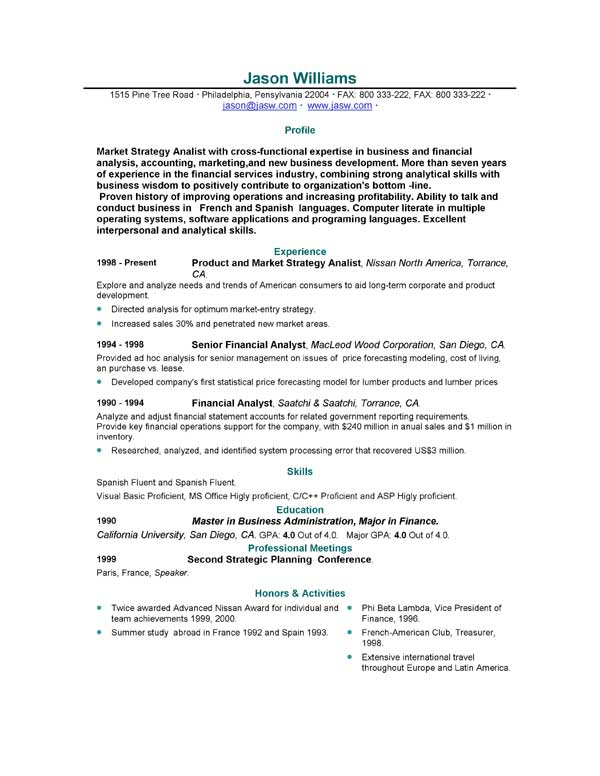 Good Cv Resume Sample Careers News And Advice From Aol Finance Scrum