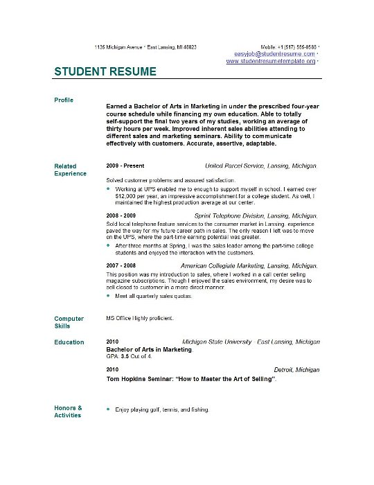 Resume template graduate school   Online Writing Lab Pinterest