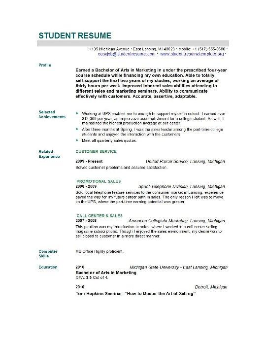 resume for graduates