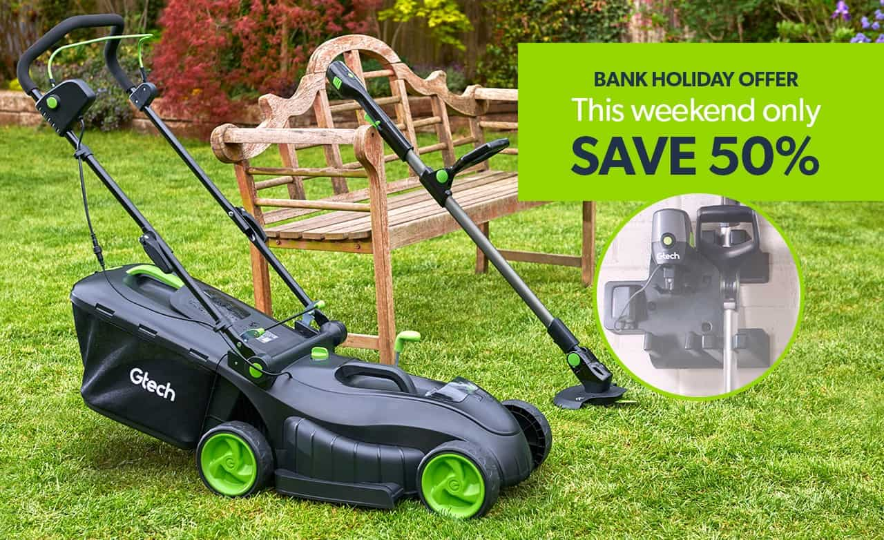 Diy Bank Holiday Offers Gtech August Bank Holiday Garden Bundle 50 Off Lawnmower
