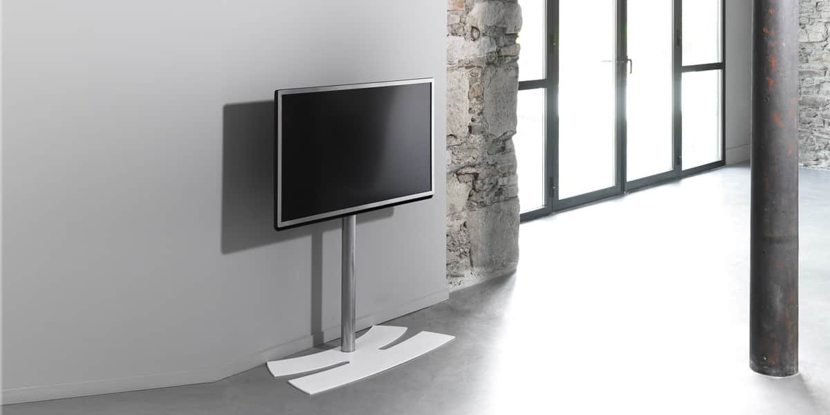 Meuble Tv Support Pivotant Erard Lux Up 900 M Blanc | Supports Tv Sur Pied Sur Easylounge